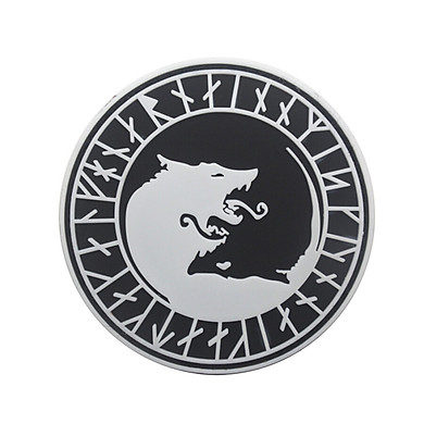 Gobestart Viking Wolf Patch Tactical Patch Flag Magic Stickers Badge Decoration
