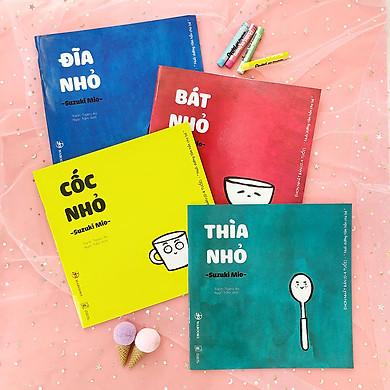 """Set 4 cuốn Ehon """"Đồ vật quanh bé"""" cho bé 0-6 tuổi"""