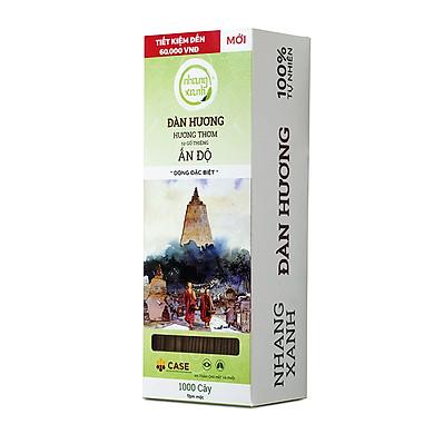 Nhang Xanh Đàn Hương - 30cm - 1000 cây - 1kg - Bột gỗ từ Ấn Độ - Nhang Thiền