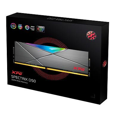 Ram máy tính Desktop ADATA DDR4 XPG SPECTRIX D50 16GB (1*16GB) 3200MHz TUNGSTEN GREY RGB - Hàng Chính Hãng