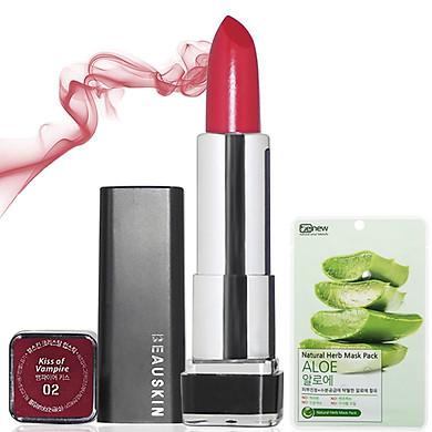 [Kèm mặt nạ] Son môi lâu trôi nhiều dưỡng Beauskin Crystal Lipstick 3.5g (#2 Đỏ Rượu)