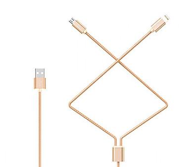 Cáp Sạc Nhanh Dây Dù 2 in 1 Lightning Và Micro USB Hoco X2 1 Mét Cho iPhone - Hàng Chính Hãng
