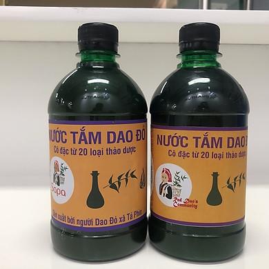 Hai chai Nước Tắm Dao Đỏ - Bản Tả Phìn