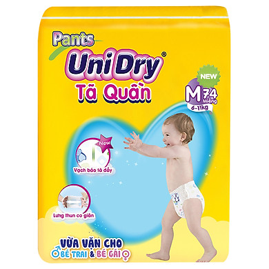 Tã Quần Unidry Ultra Jumbo M74 (74 Miếng)