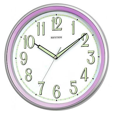 Đồng hồ treo tường Rhythm CMG548NR12, dùng pin,  vỏ nhựa, màu tím, kích thước 31.5 x 4.8cm