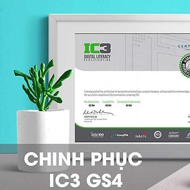 Khóa học online Chinh phục chứng chỉ IC3 GS4 Tin học Cộng