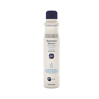 Xịt thơm toàn thân hương thơm dịu nhẹ 24H Deodorant Douceur Evoluderm 200ml - 15257