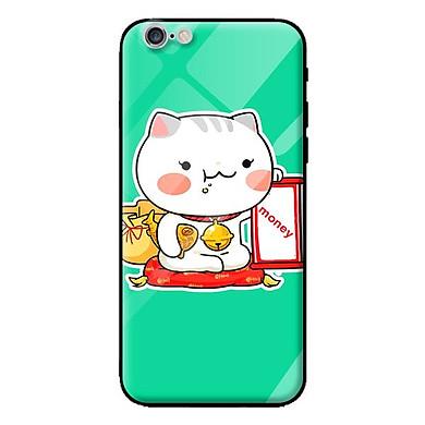Ốp kính cường lực cho iPhone 6s mẫu mèo 84 - Hàng chính hãng