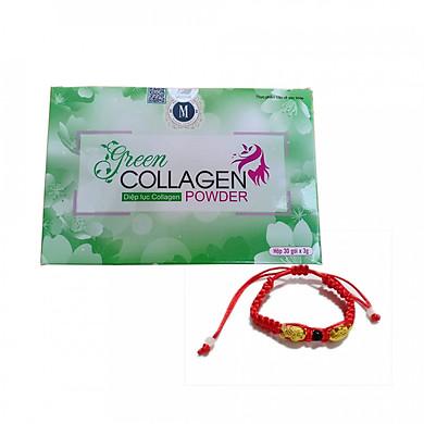 Thực Phẩm Chức Năng Diệp Lục Collagen + tặng kèm vòng tay Phong Thủy Cực Chất