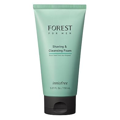 Sữa rửa mặt kết hợp làm mềm vùng da cạo râu Innisfree Forest for men Shaving & Cleansing Foam 150ml - 131170820