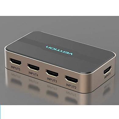 Bộ gộp HDMI 5 vào 1 ra Vention ACDG0 - Hàng Chính Hãng
