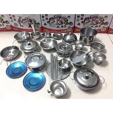 Bộ đồ chơi nấu ăn bằng inox 40 chi tiết