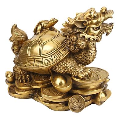 Tượng Long Quy - Rùa Đầu Rồng Bằng Đồng Thau Cỡ Nhỏ | Tiki.vn