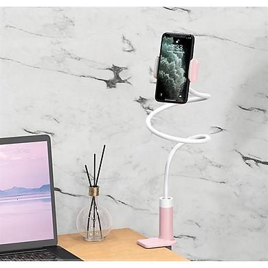 Kẹp điện thoại đuôi khỉ Hoco PH23 (trắng hồng) Hàng chính hãng