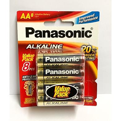 Bộ 8 Viên Pin AA Panasonic Ankaline - Hàng Chính Hãng