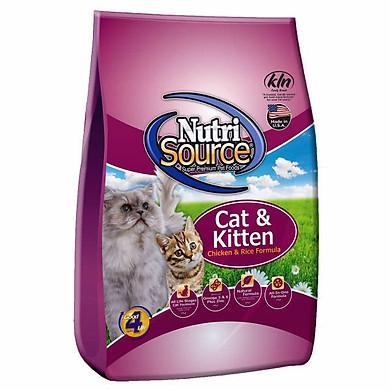Thức Ăn Cho Mèo Vị Gà Và Gạo Nứt Nutri Source - Tím (3kg)