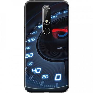 Ốp lưng dành cho Nokia 5.1 Plus mẫu Đồng hồ tốc độ xanh