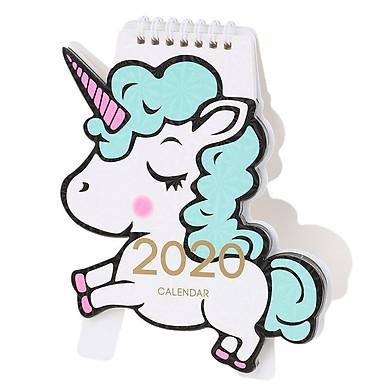 Lịch để bàn Unicorn 2020