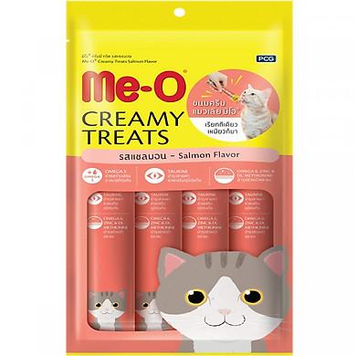 Đồ Ăn Mèo Me-O Bánh Thưởng Dạng Kem Vị Cá Hồi (60g)