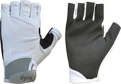 Găng tay thể thao chống nắng UPF50+ trắng Zigzag GLV00413