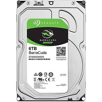 Ổ Cứng HDD Desktop Storage Seagate BarraCuda 6TB/256MB/3.5  - ST6000DM003 - Hàng Chính Hãng