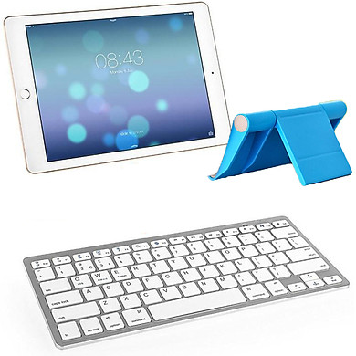 Bàn phím bluetooth BK3001 cho iPad, Máy tính bảng - Kèm đế giữ