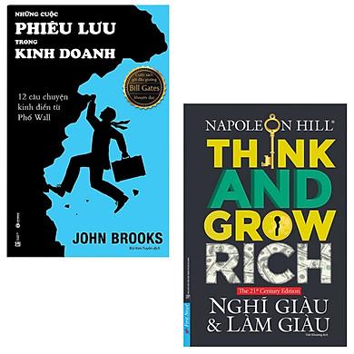 Combo 2 Cuốn Kỹ Năng Làm Giàu: Think & Grow Rich - Nghĩ Giàu Và Làm Giàu + Những Cuộc Phiêu Lưu Trong Kinh Doanh (Napoleon Hill - Những Câu Chuyện Nơi Phố Wall)
