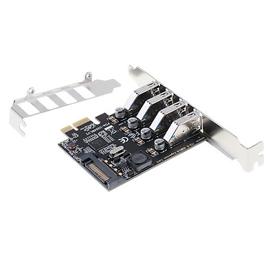 4 Cổng PCI-E Sang USB 3.0 PCI Express Card Mở Rộng Adapter