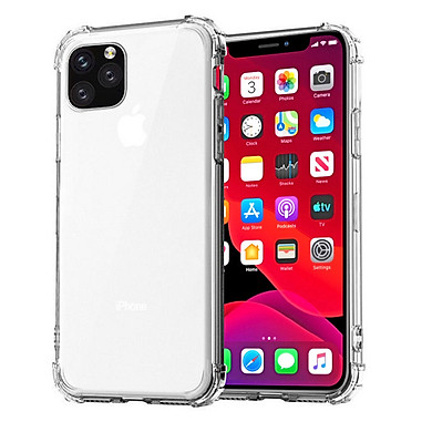 Ốp lưng silicon dẻo trong suốt chống sốc dành cho iPhone 11 Pro