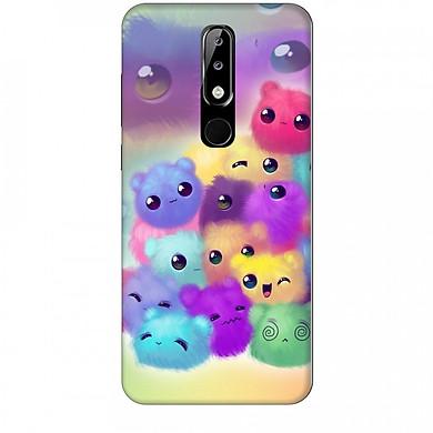 Ốp lưng dành cho điện thoại NOKIA 5.1 Plus Mèo Con Ngũ Sắc