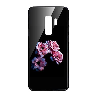 Ốp lưng CƯỜNG LỰC VIỀN ĐEN cho Samsung Galaxy S9 Plus HOA TRONG ĐÊM - Hàng chính hãng