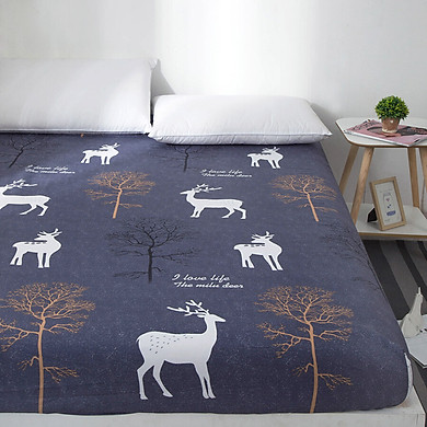 Gobestart Sanding Bed Cover Mattress Cover Dust Cover Anti-slip Bed Sheet