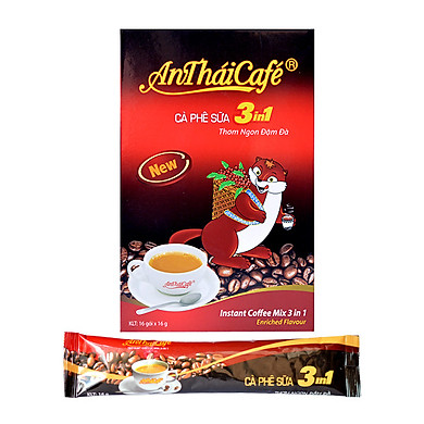 Cà Phê Sữa 3in1 AnTháiCafé New (Hộp 16 gói x 16g)