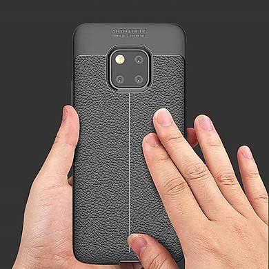 Ốp Lưng Cho Huawei Mate 20 Pro Silicon Giả Da, Chống Sốc Auto Focus - Hàng Chính Hãng