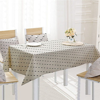 Gobestart Simple Table Cloth Linen Tablecloth For Kitchen Decorative Dining Table Cover
