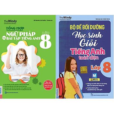 Bộ Sách Học Tốt Tiếng Anh Lớp 8 ( Tổng Hợp Ngữ Pháp và Bài Tập Tiếng Anh Lớp 8 + Bộ Đề Bồi Dưỡng Học Sinh Giỏi Tiếng Anh Toàn Diện Lớp 8 ) tặng kèm bookmark