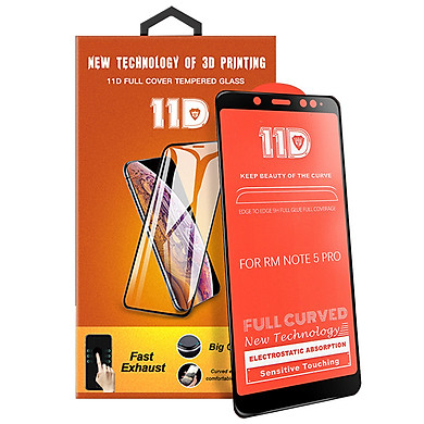 Kính cường lực 11D Xiaomi Redmi Note 5 Full viền Đen