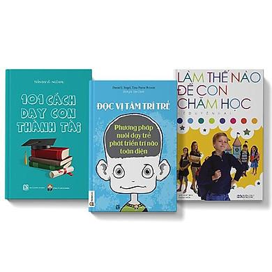 Sách COMBO 3 cuốn Làm thế nào để con chăm học + 101 cách dạy con thành tài + Đọc vị tâm trí trẻ