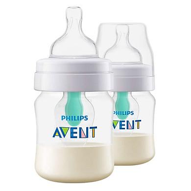 Combo 2 Bình sữa giảm đầy hơi với van giữ sữa AirFree Philips Avent SCF810/24 - 125ml