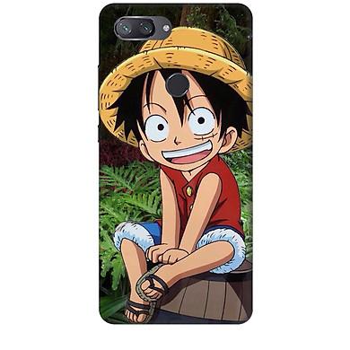 Ốp lưng nhựa cứng nhám dành cho Xiaomi Mi 8 Lite in hình Luffy