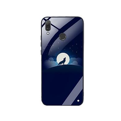 Ốp Lưng Kính Cường Lực cho điện thoại Huawei Y9 2019 - Sói 02
