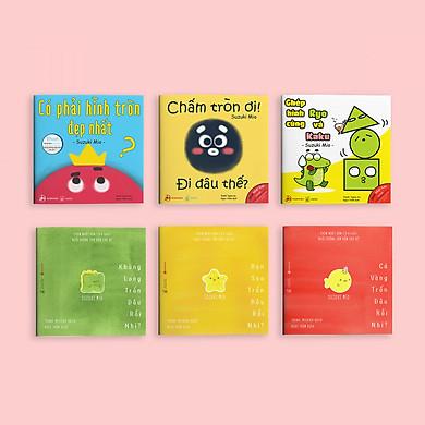 """Combo 6 cuốn Ehon """"Điều kỳ diệu của Hình khối"""" và """"Đi Đâu Thế?"""" - Cho bé 0-6 tuổi"""
