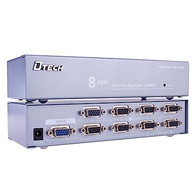 Bộ chia VGA 1 to 8 DTECH (model DT-7258) - Hàng Chính Hãng