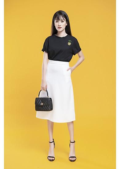Chân Váy Chữ A Màu Trắng Dài Qua Gối | Tiki.vn