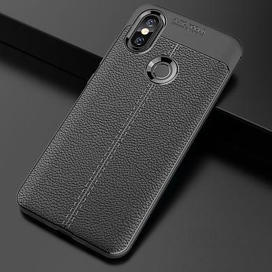 Ốp lưng cho Xiaomi Mi 8 SE silicon giả da, chống sốc  Auto Focus - chính hãng