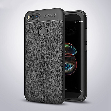Ốp lưng Silicon Auto Focus giả da, chống sốc dành cho Xiaomi Mi 5X - Hàng Chính Hãng