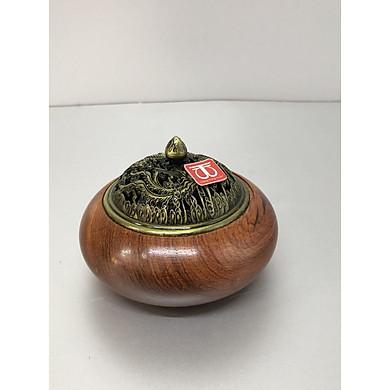 Lư xông trầm hương đỉnh đốt nhang bằng gỗ hương