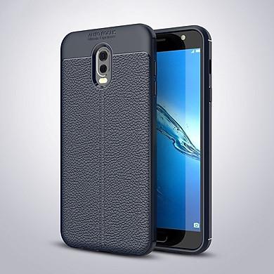 Ốp lưng Silicon Auto Focus giả da, chống sốc dành cho Samsung J7 Plus - Hàng Chính Hãng
