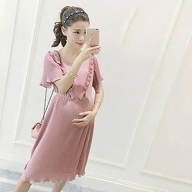 Đầm bầu cao cấp  đầm hồng TX172