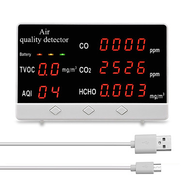 CO CO2 HCHO TVOC Máy phân tích chất lượng không khí